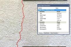 vektorisierte Schadflächen (Polygon Rissverlauf) mit Zusatzinformationen