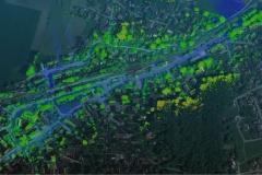 Lidar Layer auf Luftbild